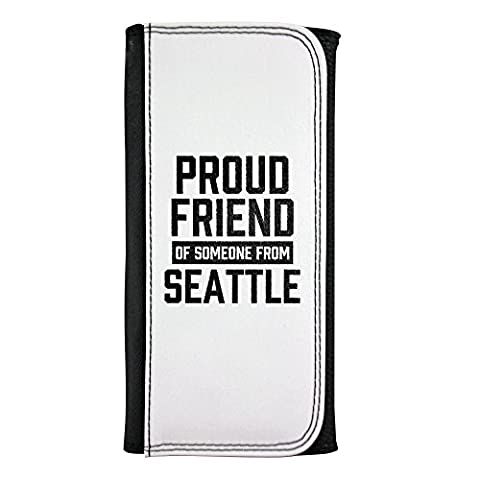 Leatherette wallet with Proud friend of someone from