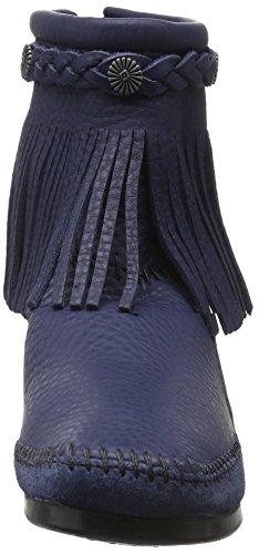 Minnetonka Damen Hitopbackzipboot Kurzschaft Stiefel Blau (Navy)