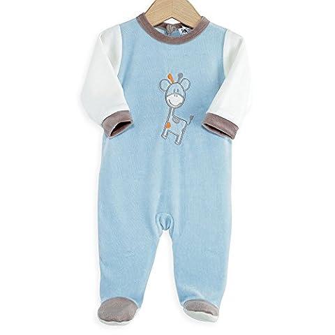 Pyjama Grenouillere Girafe - Kinousses Grenouillères Pyjama Bébé Garçon Velours Drôle