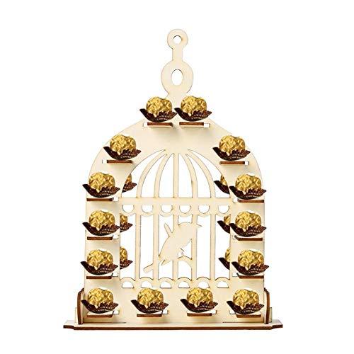 feiledi Trade Holz Vogelkäfig Schokoladenständer, Dessert Tower Gebäck Servierteller, für Babypartys, Geburtstagsfeier, Hochzeitsfeier Dessert Display Inhaber