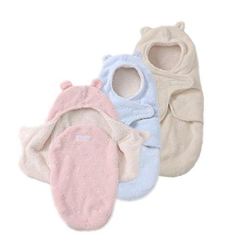 JASA kids Baby Schlafsack innen weich gefüttert Pucksack für Neugeborene zu jeder Jahreszeit verwendbar (Beige)