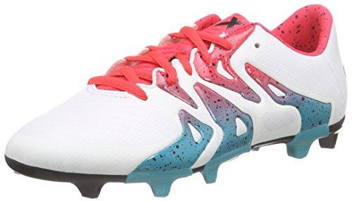 adidas X 15.3 Fg/Ag W, Chaussures de Football Femme, Mehrfarbig Weiß (Ftwr White/Shock Green S16/Core Black)
