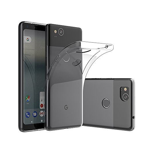 Elekin Google Pixel 2 Hülle Case, Google Pixel 2 Handyhülle Silikon TPU Crystal Clear Case Cover (Transparent)