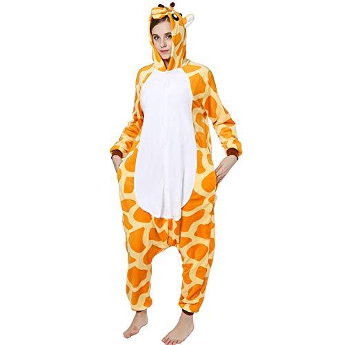 Für Erwachsene Giraffe Pyjama Kostüm - Love Home Cartoon Siamese Pyjamas Unisex