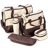 *Versand aus Deutschland*5tlg Wickeltasche Babytasche Pflegetasche Tasche Braun Baby Geschenkidee NEU thumbnail