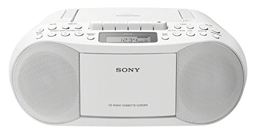 Sony cfd-70-Boombox (UKW/MW, Kassette, CD-Player), weiß (Refurbished zertifiziert)