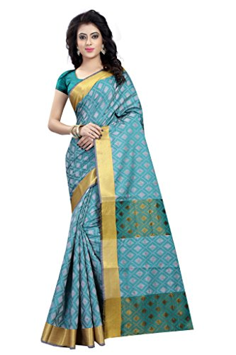 Glance Designs Womens Cotton Silk Sarees (Rama) Sarees For Women Party Wear Offer Designer Sarees