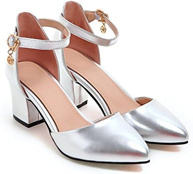 Mujeres De Las Señoras Mid Low High Heel Strappy Fiesta Sandalias De Fiesta De Baile Zapatos De Tacón Alto