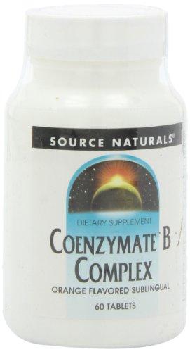 Source Naturals, Coenzymate B Komplex, Orangen Geschmack, 60 Vegane Tabletten -