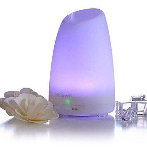 Lavendel-zimmer-diffusor (Mermaid Aroma Diffuser 100ml Diffusor Ultraschall Luftbefeuchter Kalten Nebel Technologie Abschaltautomatik Raumbefeuchter mit 7 LED Farbwechsel wasserlose automatische Abschaltung für Babies Yoga)