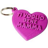 Portachiavi cuoreTi voglio bene mamma in stampa 3D - Idea regalo, festa della mamma
