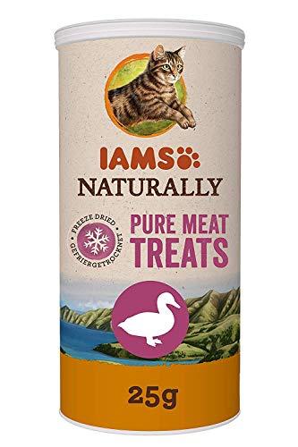 Iams gefriergetrocknete Katzensnacks aus 100% Ente, getreidefrei, 4er Pack (4 x 25 g)