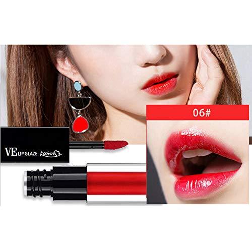 Yazidan 6 Farben Lipgloss,Wasser Lip Gloss Lipstick ist nicht einfach zu entfärben und hält das Lippenstift-Make-up Lippenstifte Liquid Matte Lipstick Dauerrhaft Lip Liner Make up