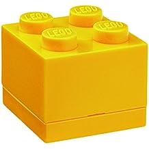 Lego RCL MB4 YL Mini scatoletta LEGO Lunch Box 4, Plastica, Giallo, 4,6 x 4,6 x 4,3 cm