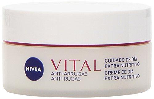 Nivea Vital - Crema de día antiarrugas para cara y rostro, pieles maduras, 50 ml