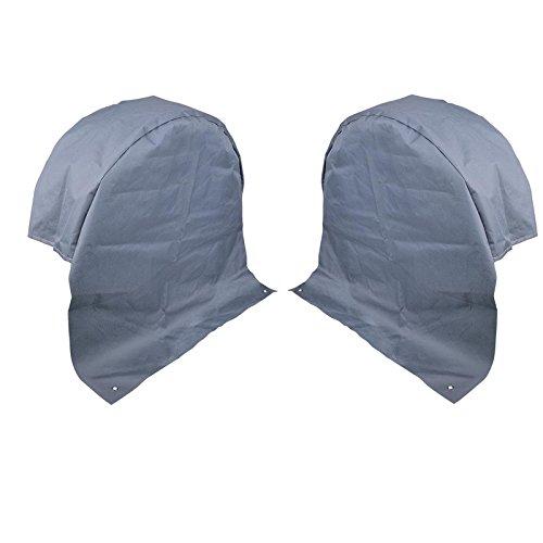 2x Wohnwagen Radabdeckung grau UV Schutz Polyestergewebe mit Anker Ösen