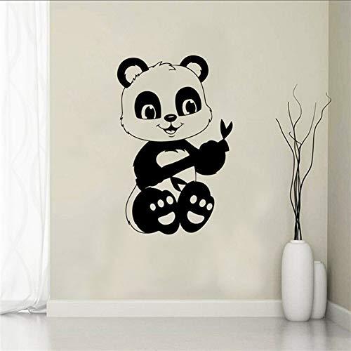 Kreative Panda Vinyl Wohnkultur Kinderzimmer Dekor Wohnkultur Kinderzimmer Cartoon Art Decor Wandaufkleber 58 X 90 CM