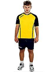 Completino Voleibol Volley Kit Vilnius Legea Incluye de nombre Número a elegir, Hombre Unisex adulto, Amarillo - Azul