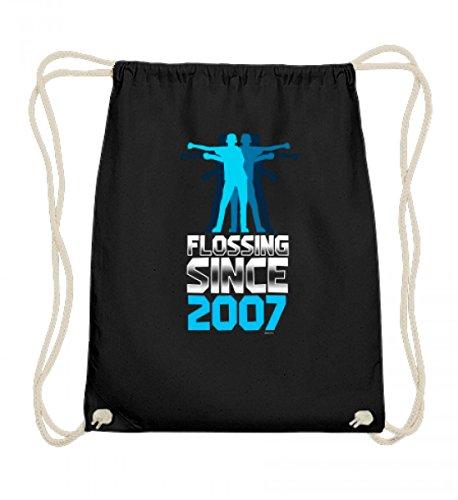 Hochwertige Baumwoll Gymsac - 11. Geburtstag Flossing Since 2007 Backpack Kid Floss Dance Zahnseide Tanz Move