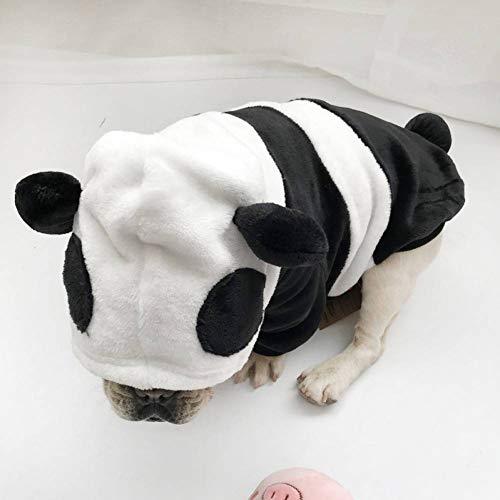 Lustige Kostüm Bulldogge Französische - FGDSSE Welpen-Winter-Warmer Hund kleidet lustiges Panda-Kostüm-WelpenHoodie der französischen Bulldogge Nettes Kostüm