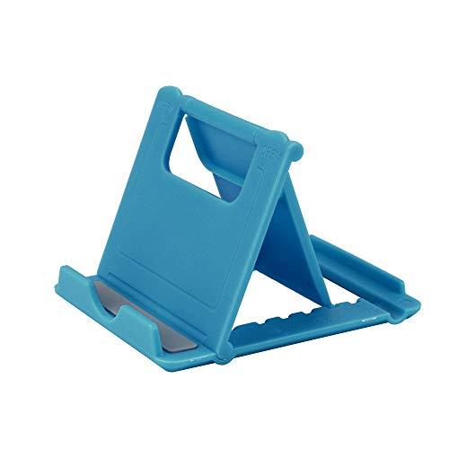 Janly Faltbare Wiege Universal Handyhalter Griffhalterung Für Tablet Telefon Stehen Multi-Angle Desktop Halter Für iPhone 7 Samsung Faule Klammer (Blau) - Blau Kabel Ladegerät Ipod