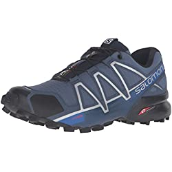 Salomon L38313600, Zapatillas de Trail Running para Hombre, Azul (Slateblue/Black/Blue Yonder Slateblue/Black/Blue Yonder), 40 2/3 EU