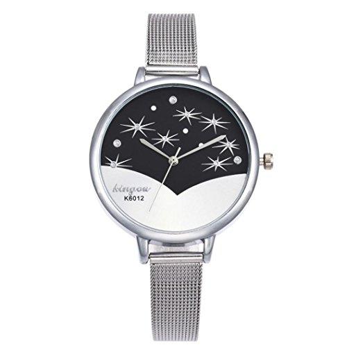 9af7de42b3bb Relojes de Pulsera Diamantes de Pulsera de Cuarzo Moda para Mujer por ESAILQ