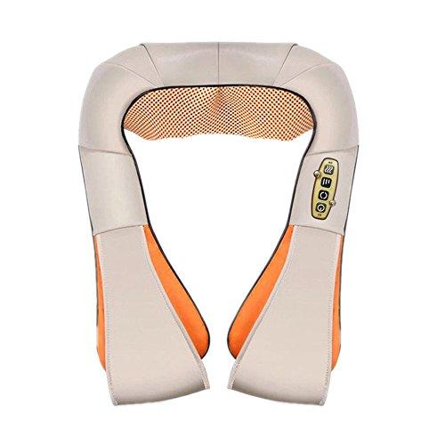 TAO Schulter Shiatsu Massager mit Shiatsu Kneten Massage Timing-Funktion mit Auto Adapter Hals und Rückenmassagegerät Fußmassagegerät