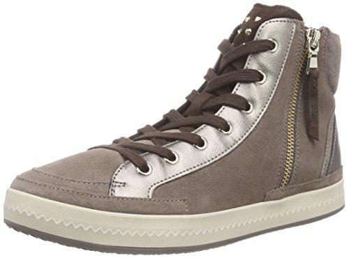 Geox - D Modesty A, Sneaker alte Donna Beige (Smoke Grey)