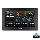XMAGG Station Météo Intérieur Extérieur Connectée WiFi pour Smartphone Capteur sans Fil Thermomètre, Hygromètre, Baromètre, Sonomètre, Qualité de l'air contrôle APP Mobile