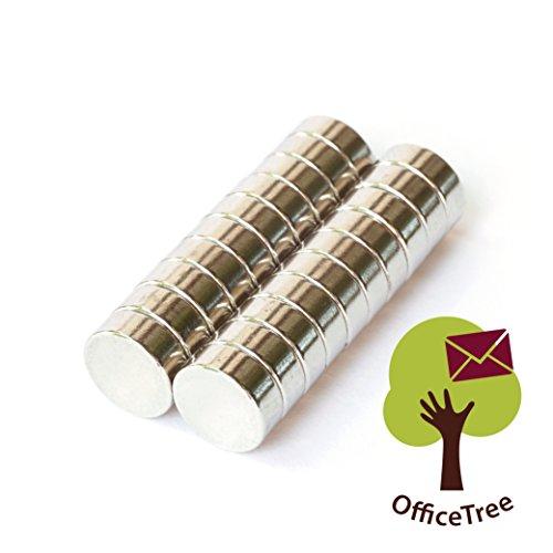 ym Mini-Magnete Scheiben-Magnete 6x2 mm rund - extra-starke Haftkraft an Whiteboard Magnet-Board Pinnwand Kühlschrank Metall-Oberflächen - Premium-Qualität (Kleine übersichtliche Kühlschrank)