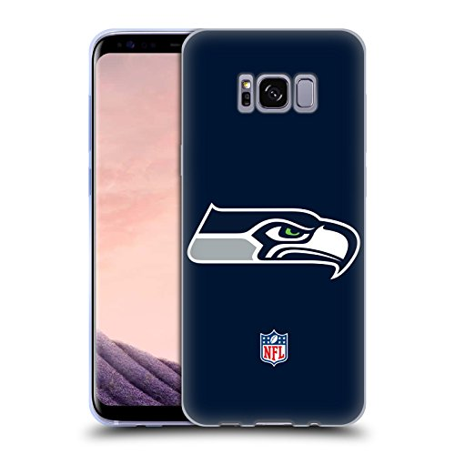Head Case Designs Offizielle NFL Einfarbig Seattle Seahawks Logo Soft Gel Huelle kompatibel mit Samsung Galaxy S8