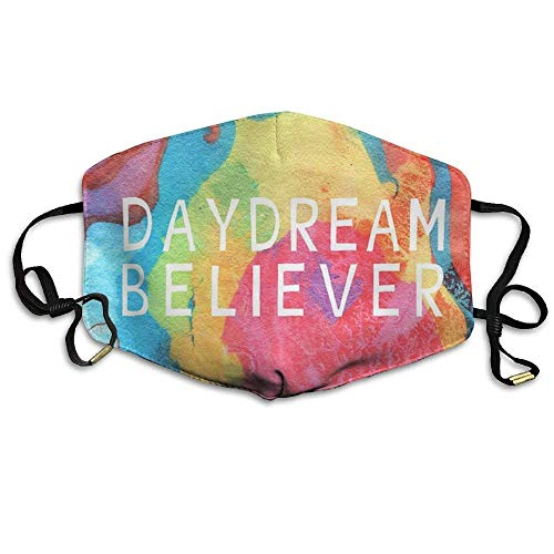 Daydream Believer Face Mask, Reuseable Polyester Face Mouth Mask Respirator for Cycling Anti Dust for Men Women Kids