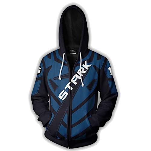 on Man Jacke Cosplay Zipper Hoodie Jacke,Blue-XXL ()