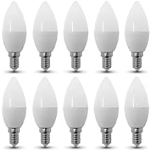 Lot de 10 - ZONE LED SET - E14-3W - Lampadina LED a Candela - Blanc Chaud (2700K) - 250 Lm - équivalent ampoule incandescente 25W - Angle d'éclairage 200°