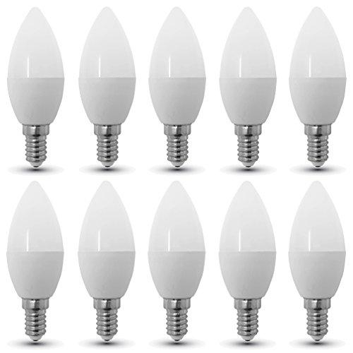 10-er SET, V-TAC, 4216, E14, 4W, LED Birne, LED Lampe, Kerzen-Form, 2700K, Warmweiß, 320 Lumen, 200° Abstrahlwinkel