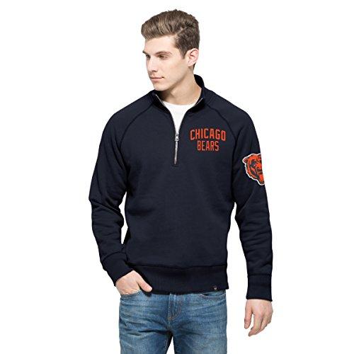 NFL Männern 47gamebreak 1/4-Zip Fleece Pullover, Herren, Fall Navy (Zip Navy 1/4 Fleece)