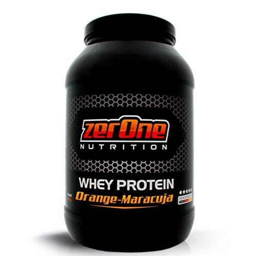 ZerOne Whey Protein Eiweißpulver | Natürliche Zutaten | hochwertiges Proteinpulver | Low Carb Eiweiß-Shake | Muskelaufbau Fitness Training | 1000g (Orange- Maracuja) ...