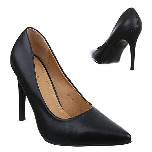 Ital-design - Chaussures À Talons Noirs Pour Femmes (noir)