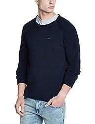 Wrangler Mens Cotton Sweater (8907649215791_W248645DH44C_XL_Black)