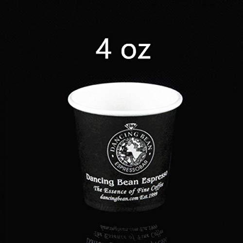 PLDKFB Kaffeetasse Verdickte Einweg-Papiermilchtee-Kaffeetassen Sicher und geruchsneutral, 4 Unzen Schwarz -