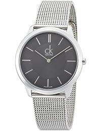 Calvin Klein ck minimal K3M21124 - Reloj analógico de cuarzo para hombre, correa de acero inoxidable color plateado