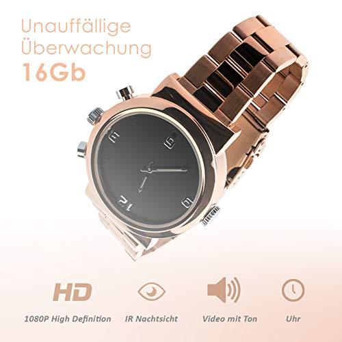 Full HD Armbanduhr Kamera A6, 12 Mio Pixel, getarnte Überwachungskamera, Langzeitüberwachung versteckte Videoüberwachung, Spy Cam, IR Nachtsicht von Kobert-Goods