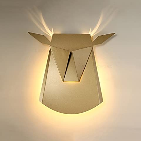 MEILING Retro / Arte / Origami / Sala de estar / Dormitorio / Pared de luz / Creativo / Aluminio / Origami / Corredor / Escaleras / Pared de