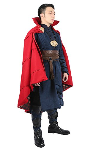 Doktor Anzug Cosplay Kostüm Umhang Erwachsene Herren Kleidung Halloween Fancy Dress Merchandise Deluxe Outfit & (Steve Halloween Kostüme)