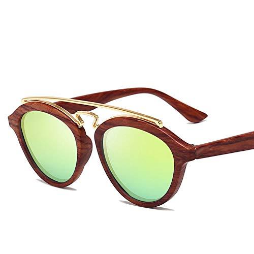 Liuao 2019 Neue runde Rahmen doppelstrahl Sonnenbrille Mode Unisex Brille Frauen markendesigner hochwertige Sonnenbrille,Style 4