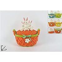 DUE ESSE CHRISTMAS S.r.l. DSC Cofanetto Ceramica Ovale C Manici Coniglio  19CM Colori Assortiti 7c691b115c75