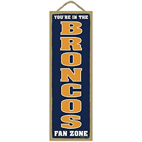 Denver Broncos Fan Zone Wood Sign
