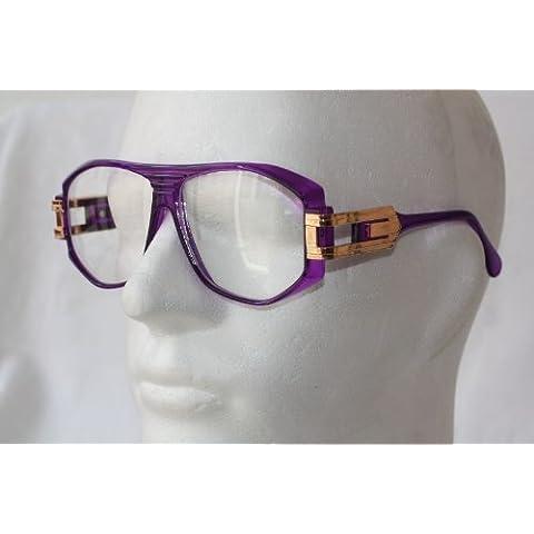 Retro Gafas Gafas de Carey Old School–XL transparente cristal ray130, morado