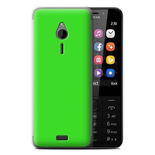 Stuff4 Hülle / Case für Nokia 230 / Grün Muster / Farben Kollektion